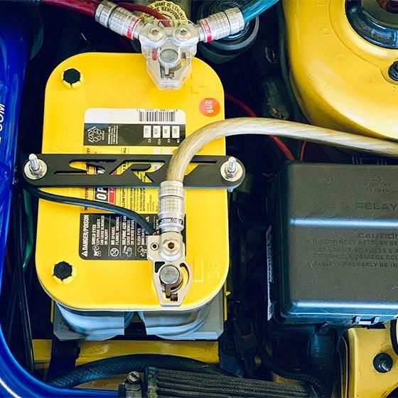 Custom Car Battery Hold Down Bar