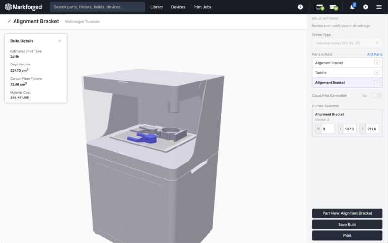 3d printing software build view