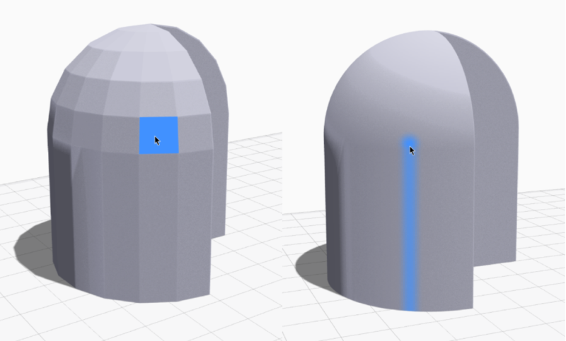 Example of low resolution STL file